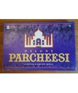 PARCHEESI DELUXE ROYAL GAME OF INDIA 1999 HASBRO MILTON BRADLEY 04017 SE... - $25.00