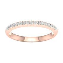 IGI Certified 10k Rose Gold 0.20Ct TDW Diamond Wedding Band - $239.99
