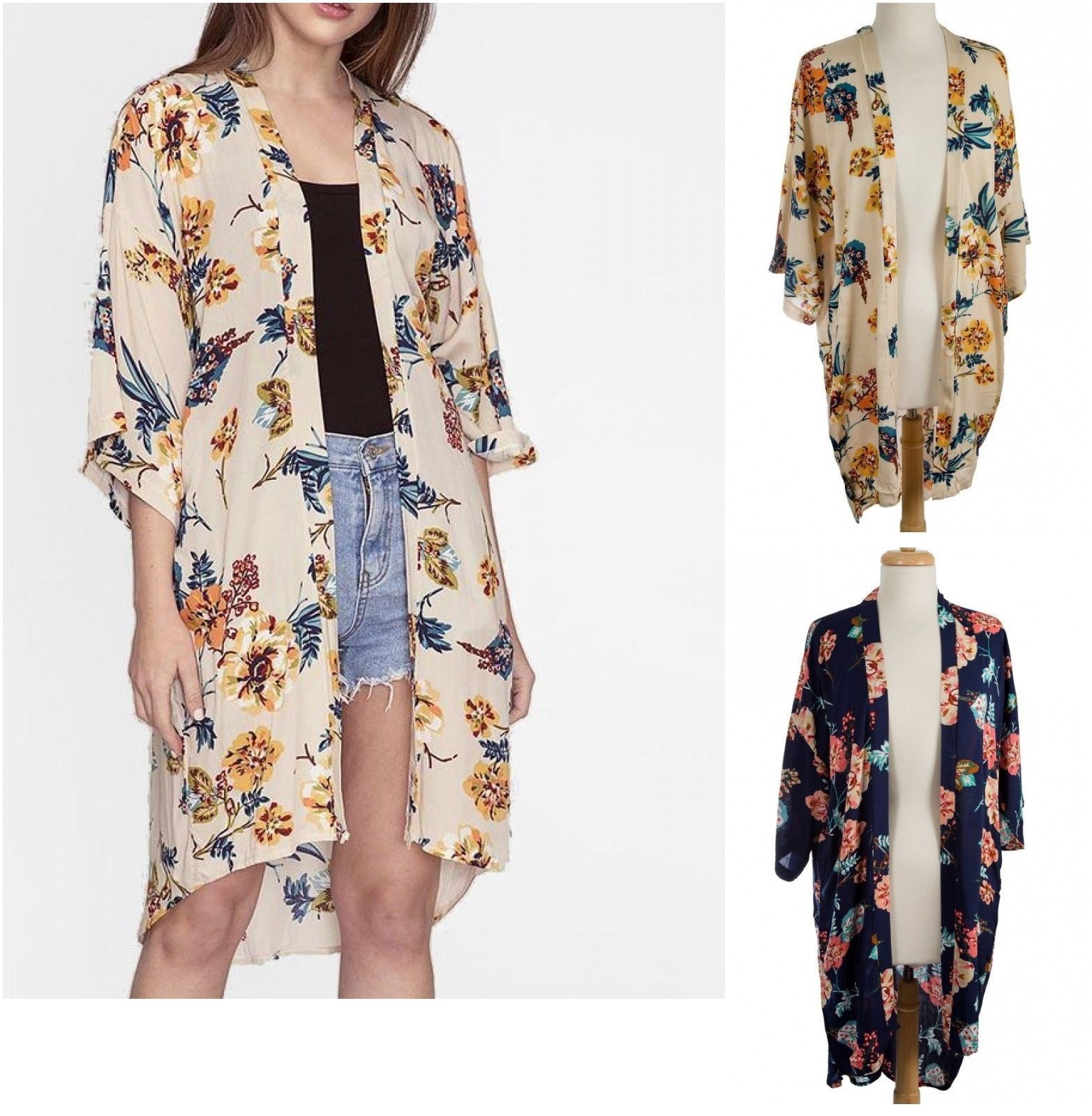 Primary image for NWT! Do Everything In Love - 3/4 sleeve Floral Kimono - OS Fits Most