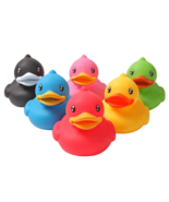 6 Set Rubber Squeaky Duck Baby Bath Toys Kids Children Shower Water Colo... - $13.87