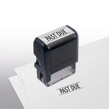 Past Due Stock Title Stamp - $12.50