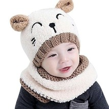 Baby Beanie Scarf Toddler Girls Boys Winter Warm Soft Knit Bear Hat Croc... - $16.96