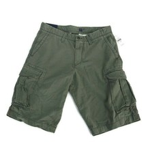 "Gap Men's Khaki Green Chino Cotton Cargo Shorts Multi Pockets 12"" Inseam... - $20.53"