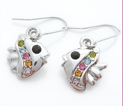 Sparkle Cute Fishes Earring - $4.99