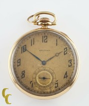 Waltham Colonial Series Open Face 14K Yellow Gold Pocket Watch 14s 19 Jewel - $1,819.06