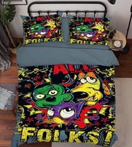 3D Animals Folks Bed Pillowcases Quilt Duvet Cover Set Single Queen King Size AU - $90.04+
