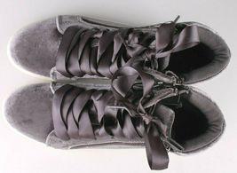 Brand New Women's Sara High Top Grey Velvet Sneakers Mossimo Supply Co image 6