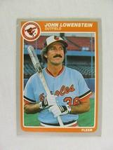 John Lowenstein Baltimore Orioles 1985 Fleer Baseball Card Number 180 - $0.98