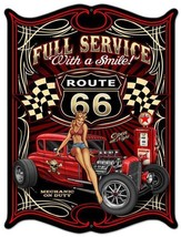 Full Service Route 66/ Hot Rod /  Pin-Up Plasma Cut Metal Sign - $35.00