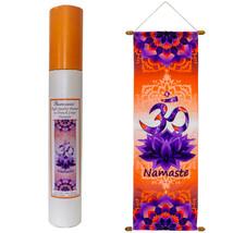 "Harmonia French Crepe Poly Banner - Om Namaste (39"" L x 12"" W) - $24.49"