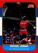Michael Jordan 1986-87 Fleer Basketball #57 Rookie Reprint card Chicago ... - $3.99