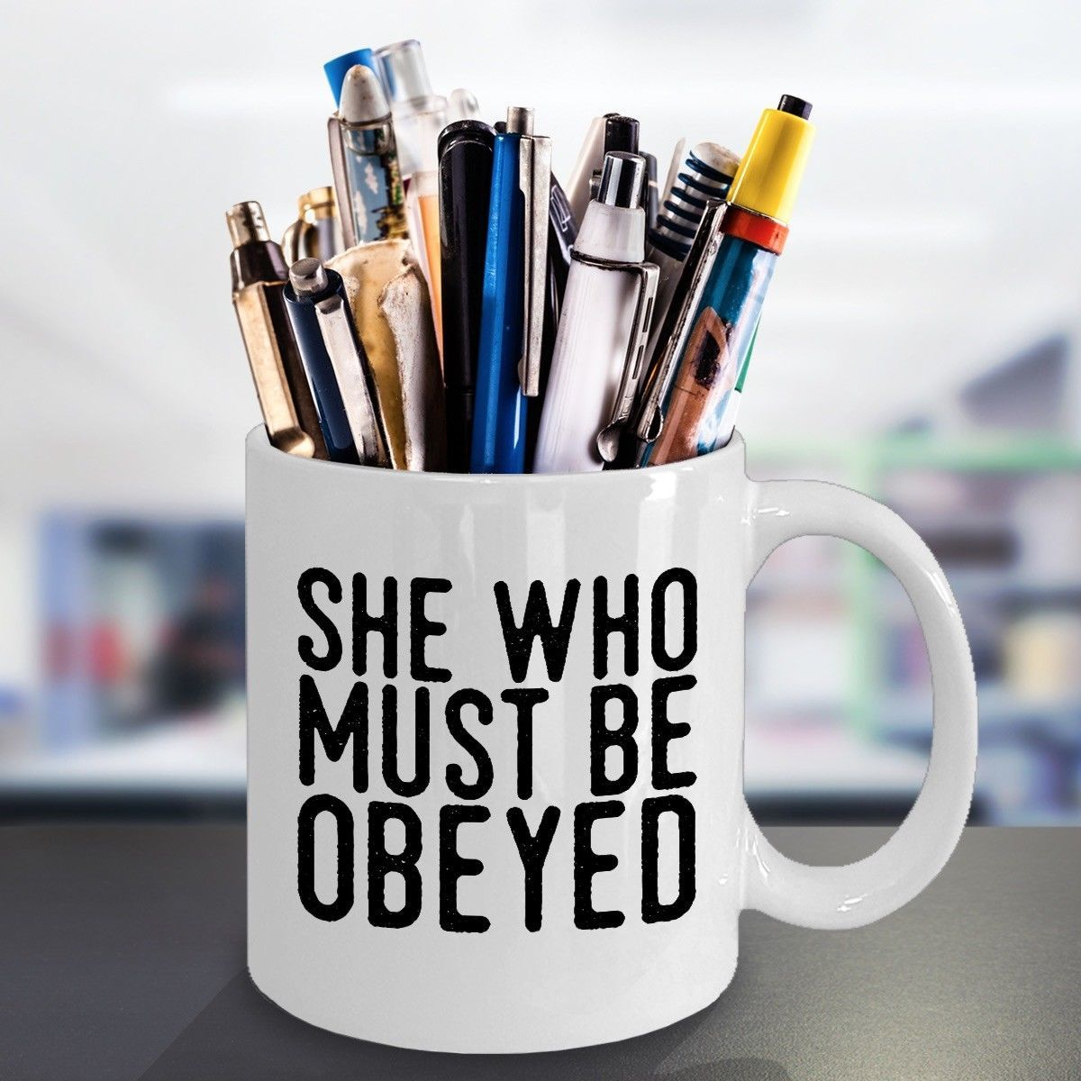 Funny Gift for Wife Boss Lady Girlfriend She Who Must Be Obeyed 11oz Coffee Mug