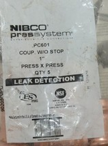 Nibco Press System PC601 Coupler Without Stop 1 Inch 9020500PC 5 Per Bag image 2