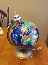 Mr Christmas Seasons Greetings Around the World Talking Globe 2000 VGUC - $52.54