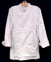 White Chef Coat CIA Culinary Institute America 5XL New Style 9601 Button... - $39.17