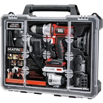 BLACK DECKER Cordless Drill Combo Kit with Case, 6-Tool (BDCDMT1206KITC) - $228.01