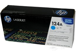 Genuine OEM HP 124A Q6001A LaserJet 1600 2600 Toner Cartridge CYAN New/S... - $24.65