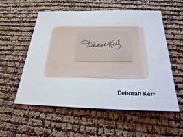 "Deborah Kerr Sexy 1.5"" x 2.5"" Signed Autographed Cut PSA Guaranteed - $12.99"
