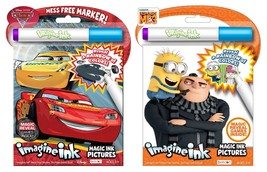 NEW Bundle of 2 Imagine Ink Activity Books - Disney Cars 3 & Despicable ... - $10.24
