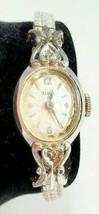 Vintage Elgin Winding Women's Wrist Watch Dainty Antique Diamond 10K RGP - $48.37