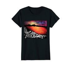 Boston Terrier Sunset Seashore Mixed Media T-Shirt - $19.99+