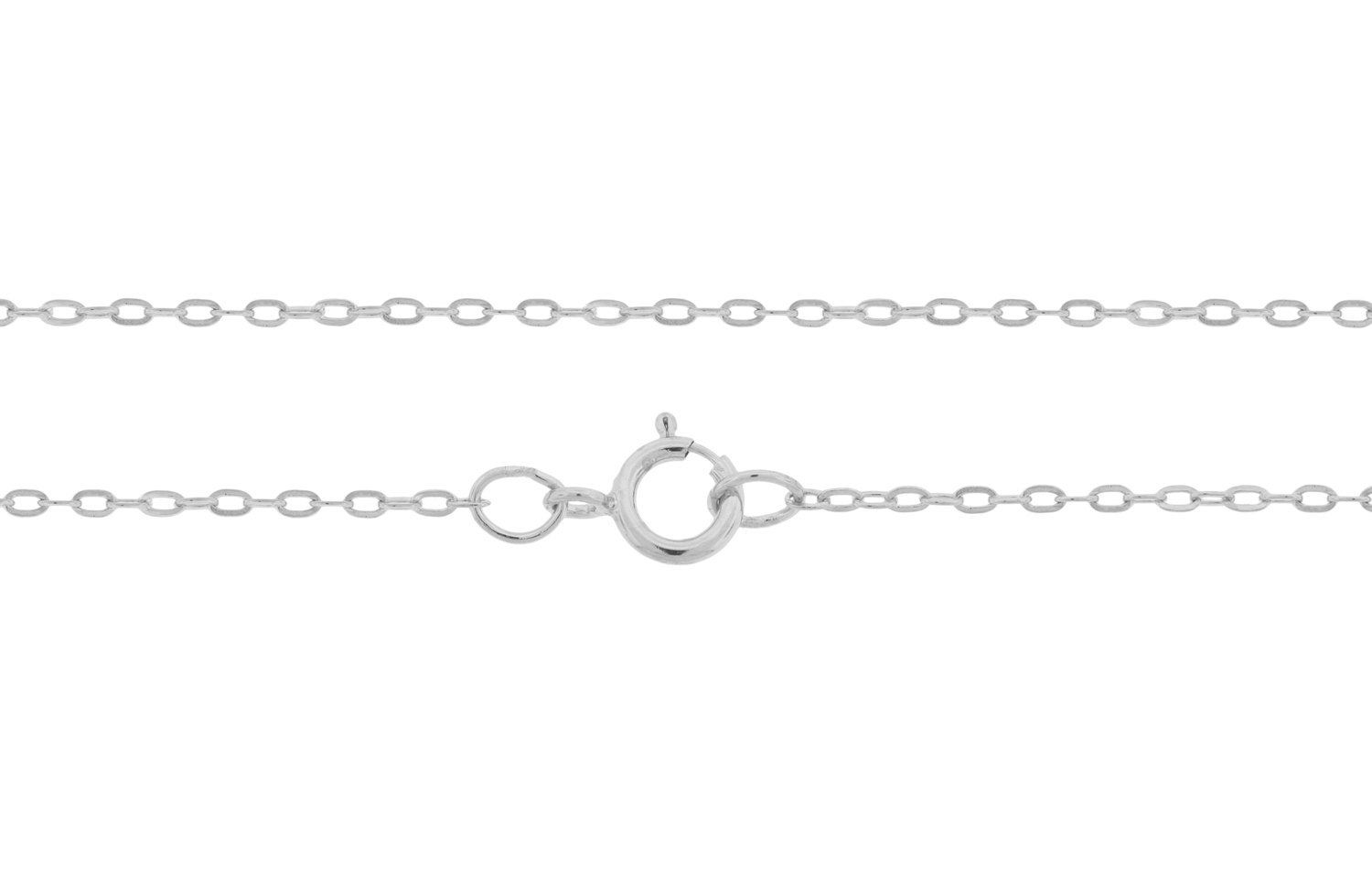 "Primary image for Chain, Drawn  Cable Chain W/ Clasp, Sterling Silver, 1.5x1mm 22"", 1pc (6787)/1"