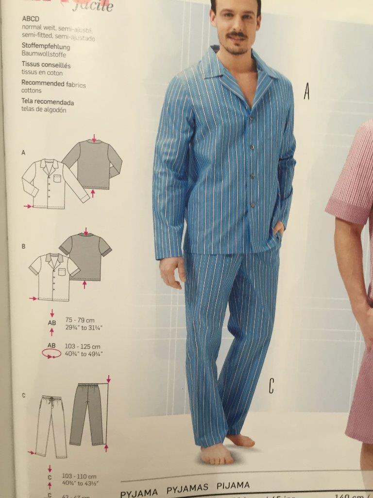 Burda Sewing Pattern 6741 Mens Pyjamas Size and 50 similar items 6c9fa8e0a