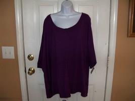 JUST MY SIZE Purple Short Sleeve Crew Tee 5X (30W/32W) Women's NEW LAST ONE - $17.16