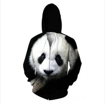 2018 Panda Zip-Up Hoodie The Giant Panda Animal 3D Sweatshirts Women Men... - $53.04