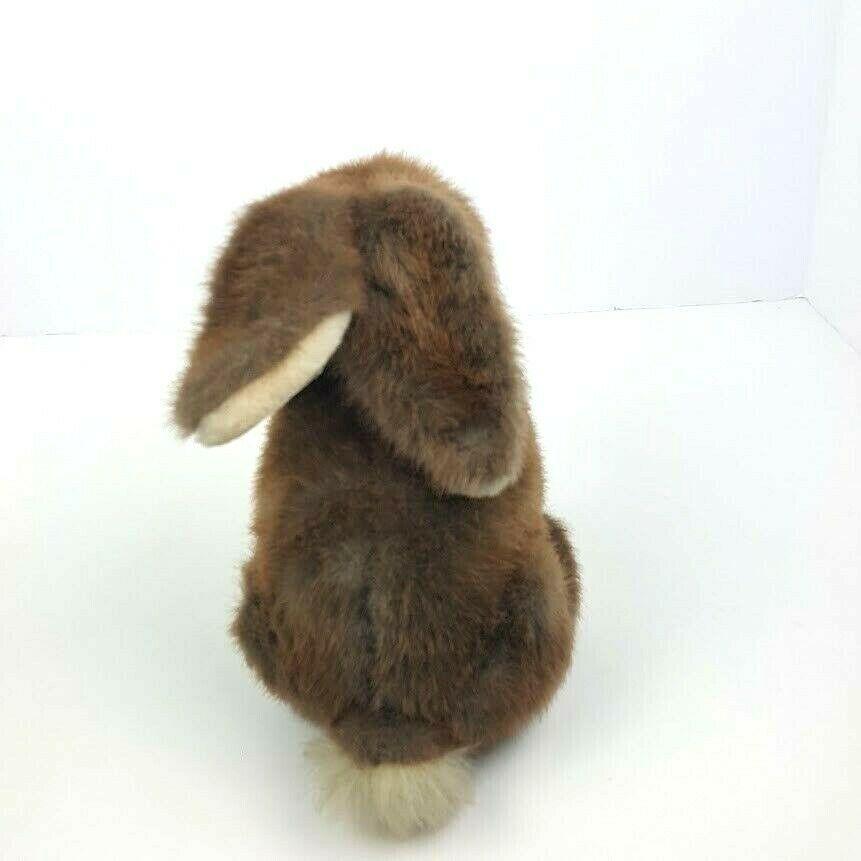"Vintage Dakin 1986 Bunny Rabbit Sitting 9"" Brown Plush Stuffed Animal Floppy  image 4"