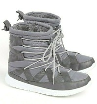 Brand New Rue 21 Ladies Lace Up Inner Faux Fur Winter/Snow Boots Grey 8 9 Large