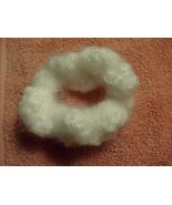 Crochet White Hair Scrunchie or Candle Decoration - $4.00