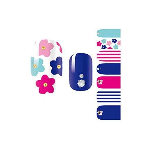 3 Sheet Colorful Nail Wraps Nail Decoration Nail Art Stickers Full Nail Decals