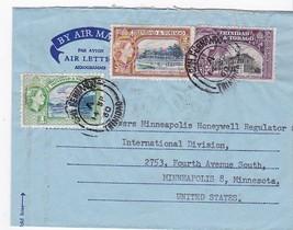 AIR LETTER TRINIDAD & TOBAGO TO MINNEAPOLIS, MINN SEPTEMBER 13, 1960 - $2.64