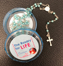 The Rosary for Life Rosary Beads - Blue