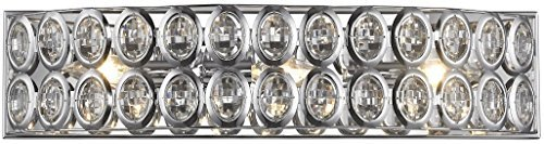 "Elk Lighting 81151/3 Vanity-Lighting-fixtures, 5 x 22 x 5"", Chrome"