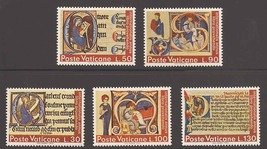 1972 Year of the Book Set of 5 Vatican City Stamps Catalog Number 521-25 MNH