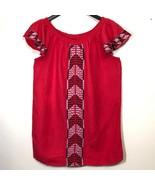 Context Linen Tunic Women L Mini Dress Summer Lord and Taylor Aztec Sout... - $39.59