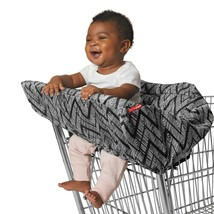 Stay Safe Shopping Cart Covers 2-in-1 High Chair/shopping Cover, Zig Zag... - $26.79