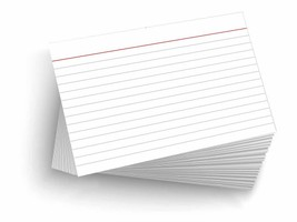 """50 Blank 4""""x6"""" Heavy Duty 14PT Ruled/Lined Postcards Index Cards - $11.41"""