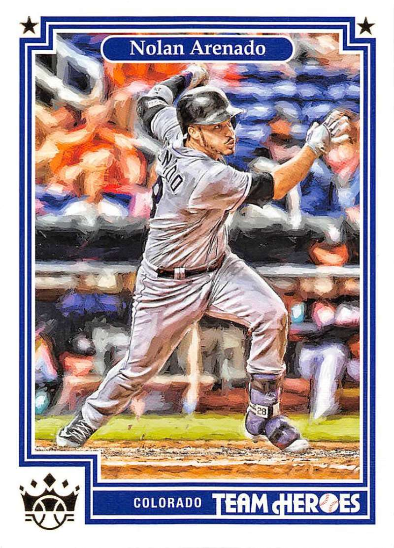 Primary image for 2019 Panini Diamond Kings Team Heroes #9 Nolan Arenado Rockies