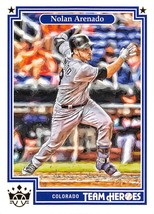 2019 Panini Diamond Kings Team Heroes #9 Nolan Arenado Rockies - $2.99