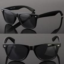 NEW RETRO MATTE BLACK SUNGLASSES DARK LENSES SHADES 80S VINTAGE GLASSES - $6.92