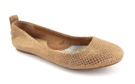 BORN Size 8.5 Gold Textured Leather Ballet Flats Shoes 8 1/2 - $44.00