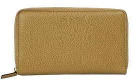 GUCCI 321117 Unisex Leather GG Guccissima Zip Around Wallet Clutch, Whisky - $265.00