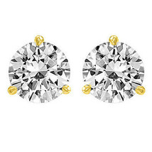 4.00 Ct Round Solitaire Stud Earrings Martini Screw Style Solid 14k Yellow Gold - $182.49