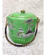 Vintage 1920s, Japan Variant Gaudy Blue Willow, 7in x 8in Biscuit  Jar (A) - $170.95
