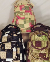 FREE SHIP-Donna Sharp zip top backpack – Diana, Rosemary Patch and Pista... - $25.99