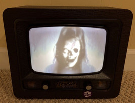Animated Haunted TV Halloween Prop SEE VIDEO New in box Free Shipping - €99,18 EUR