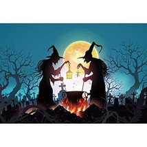 OFILA Halloween Witch Backdrop 12x10ft Halloween Magic Potion Photos Bac... - $77.69